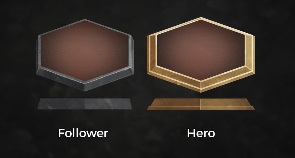 Unit bases: one for heroes and one for non-heroes.