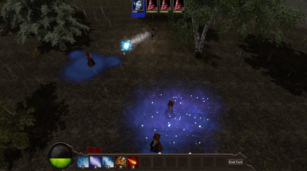 The game centers around combining weather effects like shooting ice to freeze a puddle of water and everything in it.