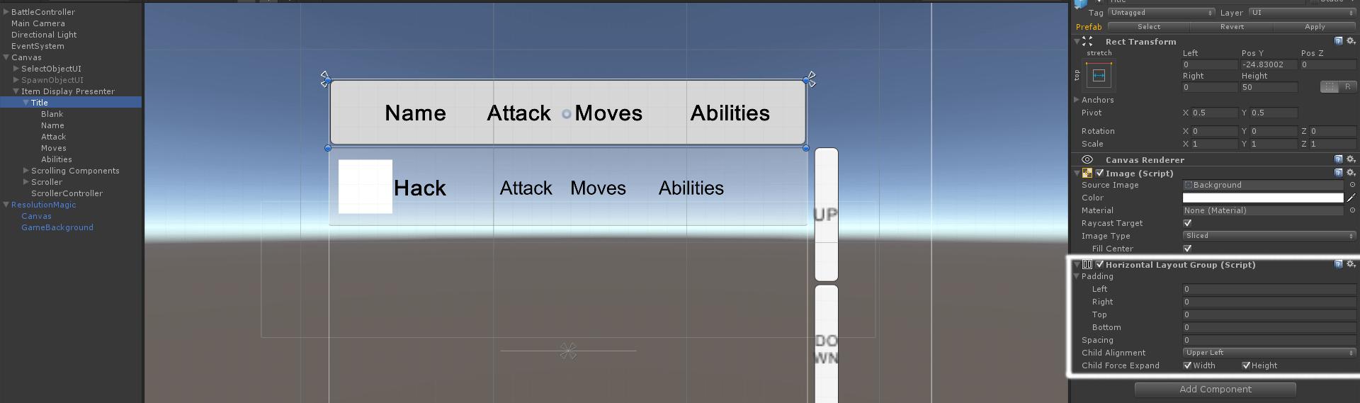 UGUI ScrollRect Menu Layout - Unity3D | Zesix