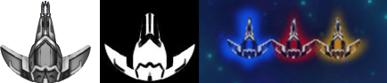 Color mask. White indicates areas we color to depict friendly, hostile, or neutral.