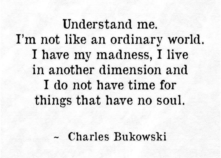 Charles Bukowski on being different