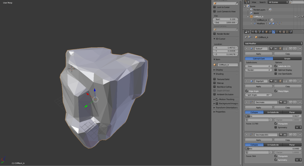 Modeling low poly objects in Blender